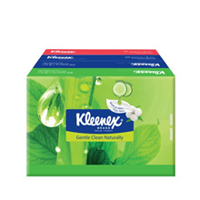 KLEENEX NATURAL FACE TISSUES SOFT PACK 4X50S