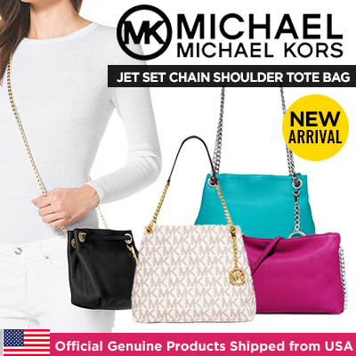 216c59cc39  Michael Kors New Arrival! Jet Set Chain Shoulder Tote Messenger Shipped  From