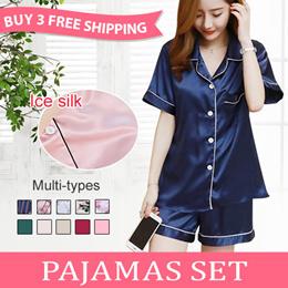 b5174275ae5  Never before price Simulation silk pajamas summer short-sleeved pajamas  sexy ice silk