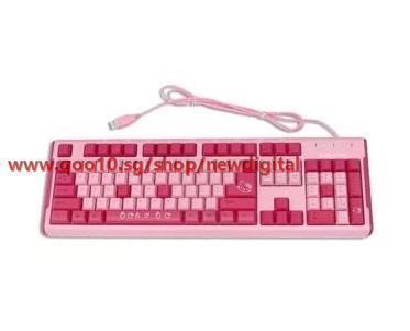 0001e653bb0 Hello Kitty Pink wired mouse USB keyboard and mouse cartoon cute girls_new  digital store