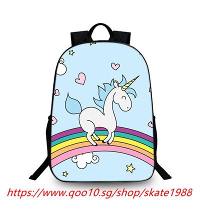 ab4a686da83c 3D Unicorn Printing Backpack Students School Bag For Teenage Girls Boys  Rucksack Cartoon Bags