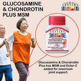 [21st Century] Glucosamine Chondroitin Plus MSM 60 tablets