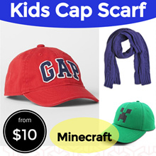 【SG SELLER】Minecraft/GAP Hat/Cap/USA BRANDED SCARF★TRAVEL★Holiday COLDWEAR★baby/Children/Kids