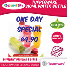 Authentic Tupperware Aquasafe Eco Fliptop Water Bottle  *BPA Free* School Cycle Sports Birthday Gift