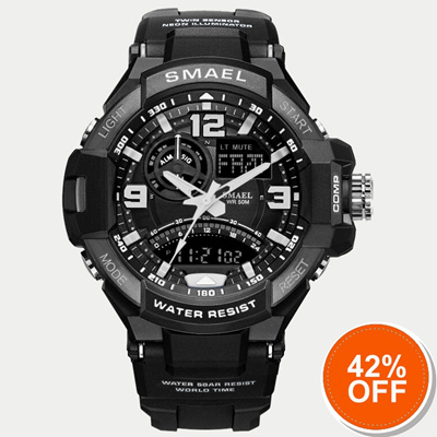 9904957d4e7 outlet Sport Watch Men Army SMAEL Black Watch White S Shock Quartz Watches  Military relogio masculin