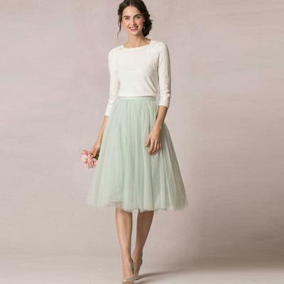 4e99fb38f8 High Quality Mint Green Knee Length Tulle Skirt for Women To Formal Party  Elegant Tutu Skirt
