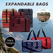 Luggage / Organizer / Foldable 2-Tier Expandable Bag / Travel Bag / Backpack / Cabin Bag / Shoe Bag