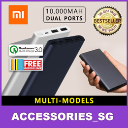 100% Authentic Xiaomi Latest Powerbank 10000 20000 mah QC3.0★Portable Charger