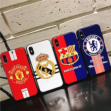 18-19 Season Club Logo Case for iPhone X Barcelona/Real Madrid/Chelsea/Manchester United