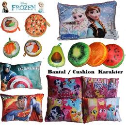 bantal buah /Bantal Frozen/anna-elsa/superman/baymax/Captain America / bantal natal/ christmas / Bantal leher buah / doraemon /pooh/keropi/ bantal sushi / bantal pizza