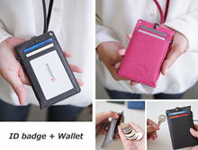 ID Card Zipper Badge Holder Unisex Card Case Wallet Purse Lanyard Necklace Neck Strap Name card