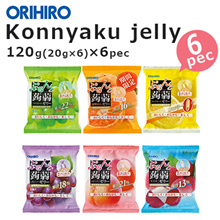 Japanese Orihiro Konjac jelly pouch Six flavors! 120g x 6pack Konjac jelly pouch type easy to eat ch