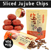 [Daeheung]★Sliced jujube chips set (40g*13ea)★Fresh Korea Jujube 100%/Korea Snacks/Korea food/Eco-friendly snack/gb_002
