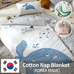 [Prielle] cotton / microfiber baby Nap Blanket  (Pillow insert included)