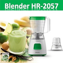 PHILIPS Blender Plastik 1.25 Liter HR2057 (Hijau)