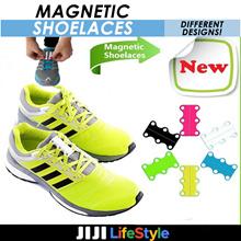 ★Magnetic Shoelaces ★ Creative Easy Wear Convenient Take Off No-tie Shoelaces Magnetic Buckie Shoe