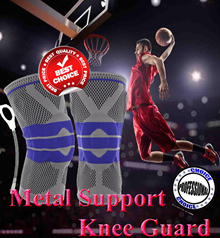[New Colours] Professional Knee Guard with Metal Support and Silicone Cover / Breathable / Elastic