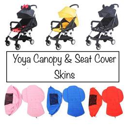 【YOYA】★Stroller Sunshade Canopy Cover + Seat Pad Cushion Set★UV Protection★Stroller Skins