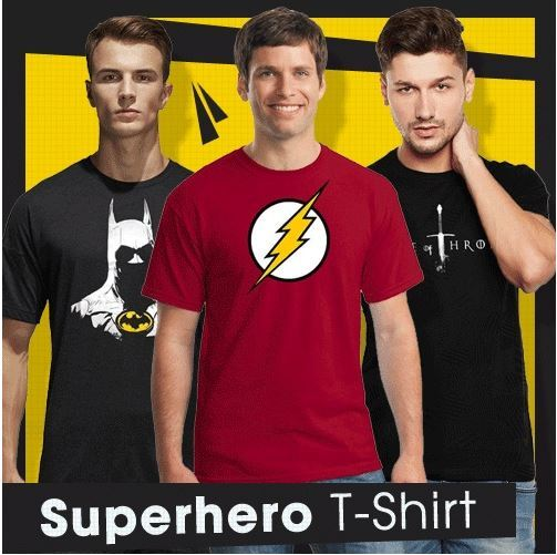 Fantasia T-Shirt Pria My Heroes Deals for only Rp35.000 instead of Rp35.000