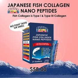 BUY 1 FREE 1 [21st Century] Japanese Fish Collagen Nano Peptides - 31 Sachets