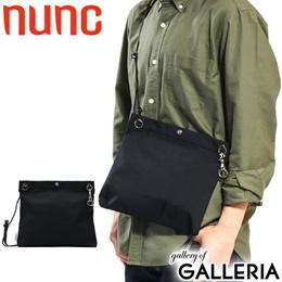 c9b6e5475347 nunc shoulder bag 3 Layered Nylon Sacoche Black lightweight Mens Womens NN  104010