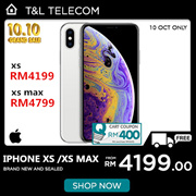Apple iPhone XS Single Sim + eSIM / Apple iPhone XS Max Dual Sim  [64GB/256GB/512GB LTE] ~ 1 Year Se