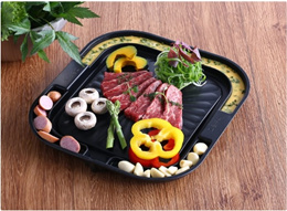 [Queen Sense]Relief Multi-Function Grill Pan/ Frying Pan / Wok Pan/Korean BBQ Stone Grill Pan /KOREA