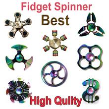 Rainbow 3//4 Crab Legs Crusader Shield Hand Spinner Fidget Spinner EDC Focus Toy