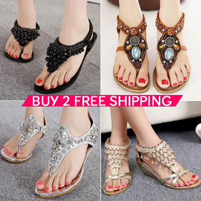 999a83bcb4 Buy 2 Free Shipping 2019 New Women Sandals Ladies Flat Sandals★Womens  Shoes★Girls Sandals★lady high