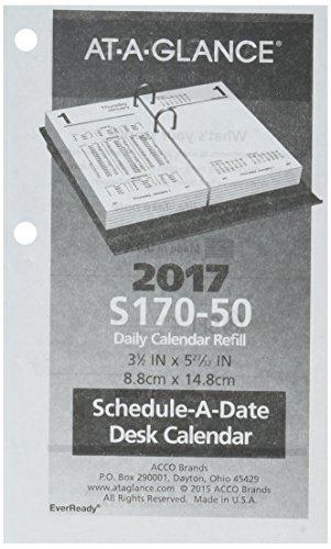 Qoo10 At A Glance Desk Calendar 2017 Refill Daily Financial 3 1