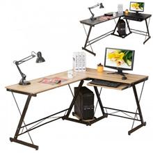 L Shape Office Computer Laptop Wooden Desk Student Study Table Workstation (SC1)