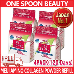 4 PACKS BUNDELS Meiji Amino Collagen Powder 214g x 4