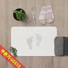 Foot mat absorbent strong bathroom mat Diatomite toilet mat Quick dry