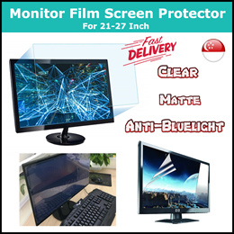 ★Monitor PET Film Screen Protector★ 21.5 • 24 • 27 Inch - Clear • Matte • Anti-Bluelight