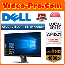 Best Price Now! Dell SE2717H 27 INCH Full HD (1920 x 1080) LED Monitor AMD FREESYNC (HDMI VGA Port) 3 Year Warranty! Limited Stocks!