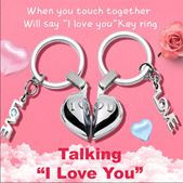 Couple sound small pendant car keychain creative birthday Valentines Day gifts to send girlfriend