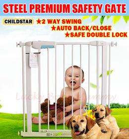 ★Authentic ChildStar 75/100cm Height★Fit  57-300cm/Steel premium safety gate for baby Kids/Door Fenc