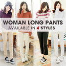 [COUP]SPECIAL PROMO! WOMAN LONG PANTS COLLECTION 4 STYLE/ CELANA WANITA /HIGH QUALITY/ASLI DARI KOREA