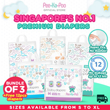 [20%off Bundle of 3+1]Mix and Match★Pee-Ka-Poo★Singapore No.1 Premium Diapers★Create your own Bundle