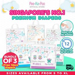 [20%off Bundle of 3+1] Mix and Match / Pee-Ka-Poo / Singapore No.1 Premium Diapers / peekapoo