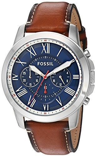 f697da4ee2c ... qoo10 (fossil) fossil grant chronograph dark brown leather watch(fossil)  fossil grant ...