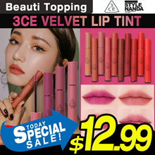 Qoo10 Lowest Price★Released 3 Kinds of Violet color★NEW★3CE★VELVET LIP TINT 13Colors[Beauti Topping]