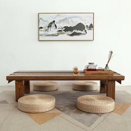 日式茶几榻榻米桌子矮桌禅意实木炕几功夫茶桌长条地桌阳台小茶几