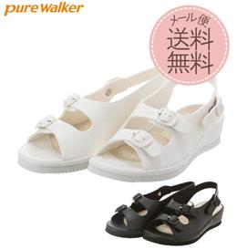 ナースシューズ  ピュアウォーカー Pure Walker  黒 白 pw7611 ダイマツ 定番 シンプル ゆったり 歩きやすい 消臭 サンダル オフィス レディース 疲れない ナースサンダル 蒸れ