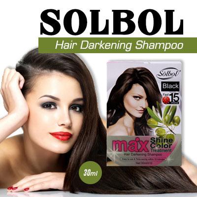 Solbol Hair Darkening Shampoo/Hair Dye Color Shampoo/covers grey/white hair