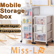MOVEABLE SLIM CABINET/kitchen shelf/Storage Cabinet Organizer /Slim drawer Rack/rack shelf