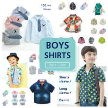 CupKidsLove❤ 8 Nov New ❤ Boys Shirts/Long sleeve shirs/Tops/Jeans ❤ 1Y to 12Y ❤ Ready Stock ❤