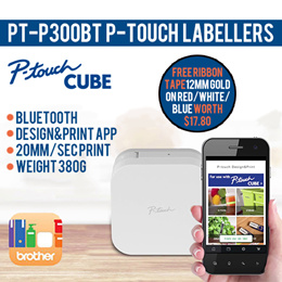 ORIGINAL#Brother PT-P300BT P-touch Cube Electronic Labeller# 1 Year local warranty