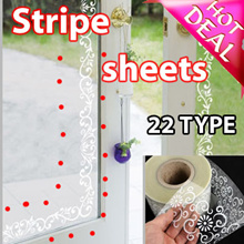 [HOT DEAL]STRIPE SHEETS Bathroom window MIRROR film frosted white frosted glass sliding door window grilles paper stickers Stickers paintings Store