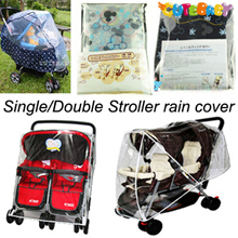 Stroller rain cover★ - suitable for single and double strollers and all colors are available